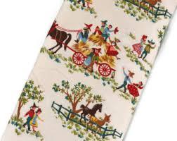 Vintage Drapery Fabric Farmhouse Fabric Etsy Studio