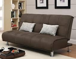 futon pillows brown microfiber casual comfort armless sofa bed futon