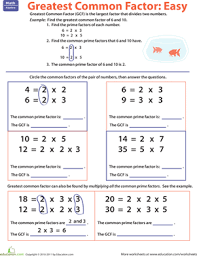 ideas of greatest common factor worksheets with additional free