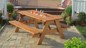 Build A Heavy Duty Picnic Table by Diy Picnic Table With Built In Cooler The Home Depot