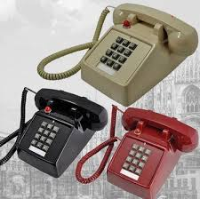 Desk Telephones 2015 Black Retro Push Button Corded Desk Phone Vintage Look New