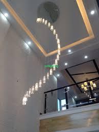Indoor Chandeliers by Indoor Stair Lamp Crystal Chandelier Modern K9 Large Led Spiral