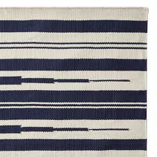 William Sonoma Kitchen Rugs Aura Stripe Indoor Outdoor Rug Navy Williams Sonoma