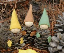 Garden Crafts To Make - nature christmas crafts pinecone gnomes inhabitots