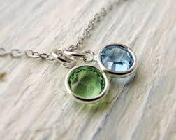 grandmother birthstone necklace grandmother birthstone necklace etsy