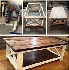 white farmhouse coffee table diy wood coffee table