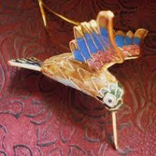 articulated cloisonne hummingbird figurine ornament animal