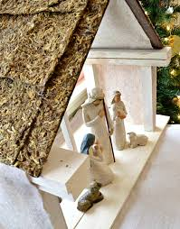 diy nativity stable