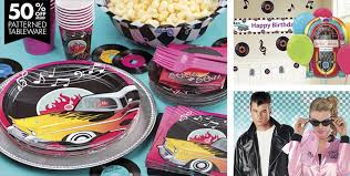 themed party supplies classic 50s theme party supplies party city