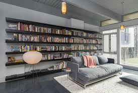 sofa lighting living room book shelve mid century modern house