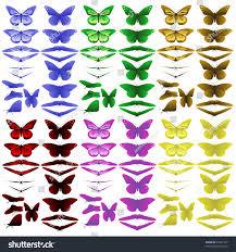 simple butterflies raster stock illustration 25831357 shutterstock