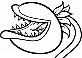 plants vs zombies chomper coloring sheet best coloring pages 2017