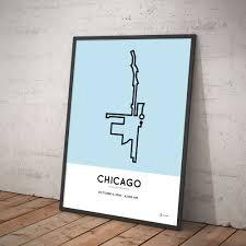 Chicago Marathon Map 2016 Chicago Marathon Print U2013 Sportymaps