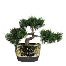 decorative artificial desktop japanese bonsai tree in pot reviews