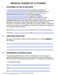 Living Will Medical Power Of Attorney by Medical Power Of Attorney Forms Pdf Templates Power Of