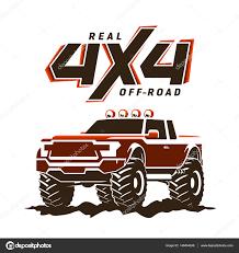 monster trucks clipart off road monster truck pickup illustration u2014 stock vector info