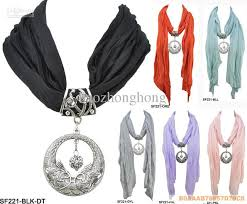 diy necklace wholesale images Wholesale diy circle pendant scarf womens charming jewelry scarves jpg