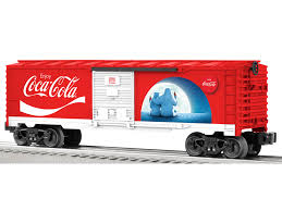 box car train coke polar bear boxcar