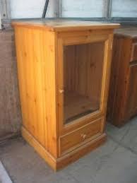 Ornate Display Cabinets Vintage Oak Glazed Ornate Display Cabinet 4 Leaded Ornate Cabinet
