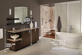 Bathroom Sconce Height Bathroom Measurement Guide Delta Faucet Inspired Living