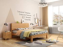 bedroom furniture in different perspectives colors and