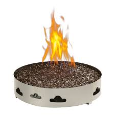 propane fire pit canada shop 20 in w 60 000 btu stainless steel propane gas fire pit at