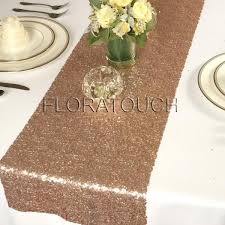 rose gold glitz sequin table runner u2013 floratouch
