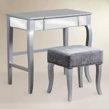 Silver Vanity Chair Walnut Brown Kari Vanity Set World Market