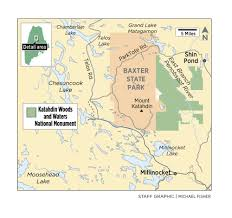 Shades State Park Map by Making The National Monument A Natural Fit For Maine Portland