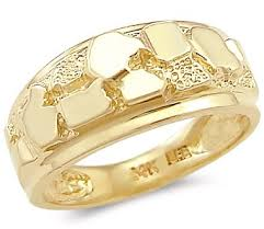 beautiful ladies rings images 14k solid yellow gold new mens ladies nugget ring band jpg