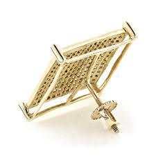 mens gold stud earrings real hip hop jewelry 10k gold men s diamond oversized stud earring