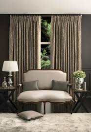 modern house with long french pleat curtains different curtain