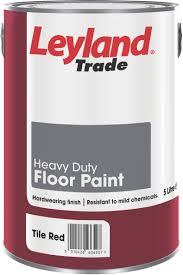 Red Floor Paint Leyland Trade Heavy Duty Tile Red Satin Floor Paint5l