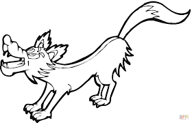 cartoon wolf coloring page free printable coloring pages