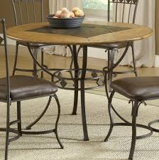 stone top dining room table round wood u0026 stone top dining table by hillsdale wolf and