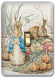 Bunny Rabbit Home Decor Peter Rabbit Metal Light Switch Plate Cover Bunny Nursery Home
