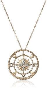 gold love pendant necklace images 10k rose gold diamond love compass pendant necklace jpg