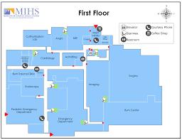 emergency room floor plan mihs campus maps