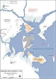 Green Line Boston Map by Of The Siege Of Boston 1776