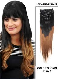 26 inch straight ombre remy brazilian hair weave two tone color