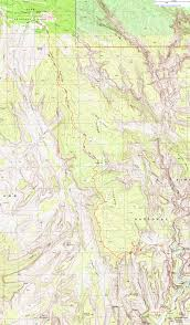 Topography Map Topographic Map Of The West Rim Trail Zion National Park Utah