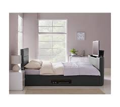 buy hygena gemini double tv bed frame black at argos co uk
