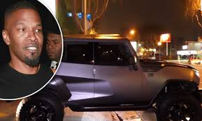Helen Shaver Topless - jamie foxx flaunts muscly new suv as he arrives at club daily