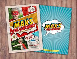 Superhero Invitation Card Superhero Invitation Superhero Birthday Invite Diy Superhero