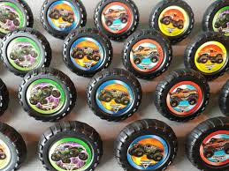 grave digger monster truck birthday party supplies 24 monster jam rings cupcake toppers cake birthday party favors