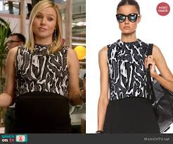wornontv jeannie u0027s zebra striped crop top on house of lies