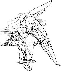 clipart grieving angel