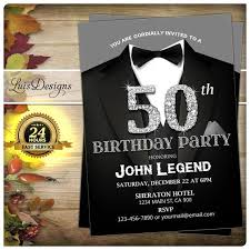 7 best 50th birthday invitation black suit birthday party