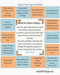 daily cleaning schedule family friday cleaning house and