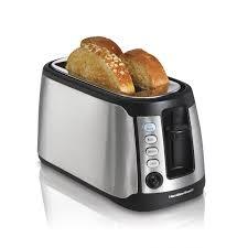 Toaster Box Hamilton Beach 24810 4 Slice Long Slot Keep Warm Toaster